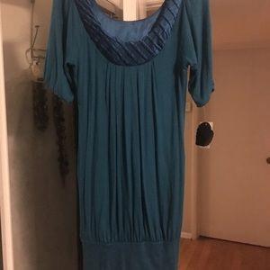 Heart Soul teal M NWT dress